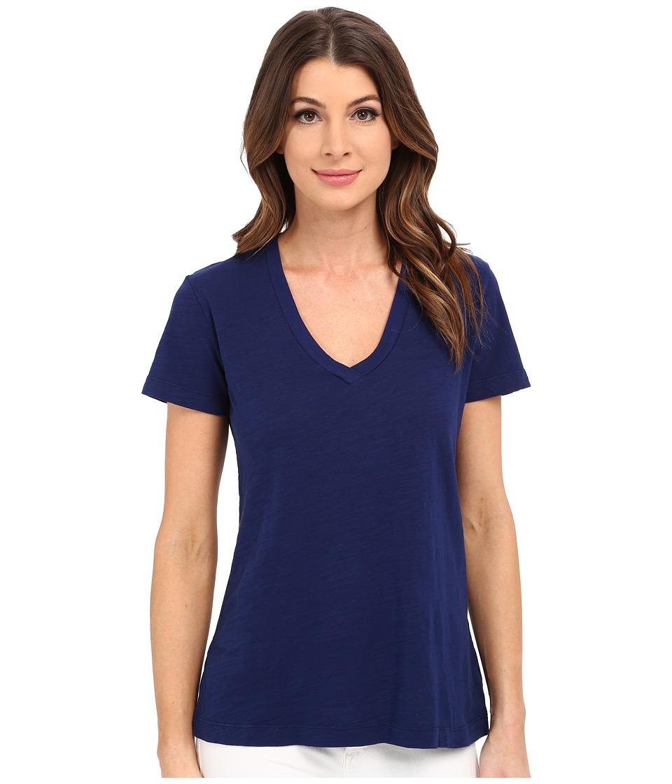 Mod o doc Slub Jersey Short Sleeve V Neck Tee Inkwell Womens Short Sleeve Pullover