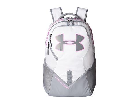 Under Armour UA Big Logo IV Backpack - White/Steel/Verve Violet