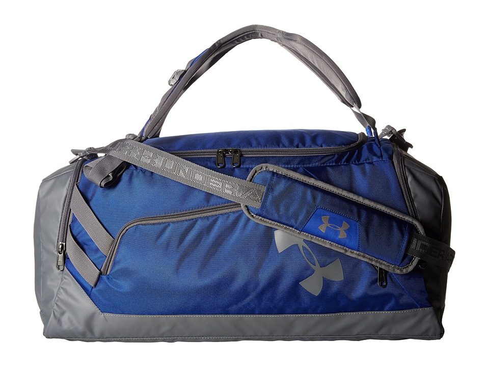Under Armour - UA Contain Duo Backpack/Duffel (Royal/Graphite/Graphite) Duffel Bags