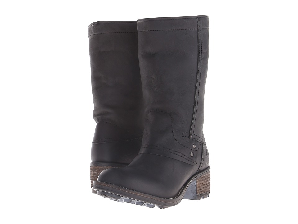 PLDM Capper Black Womens Pull on Boots