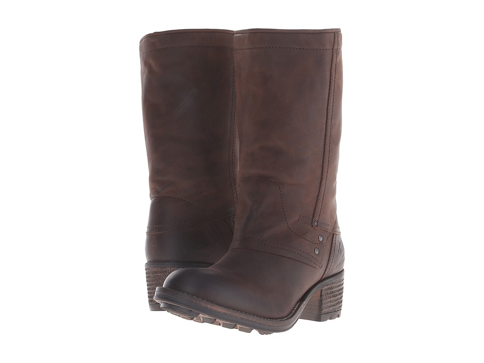 PLDM Capper Dark Brown Womens Pull on Boots
