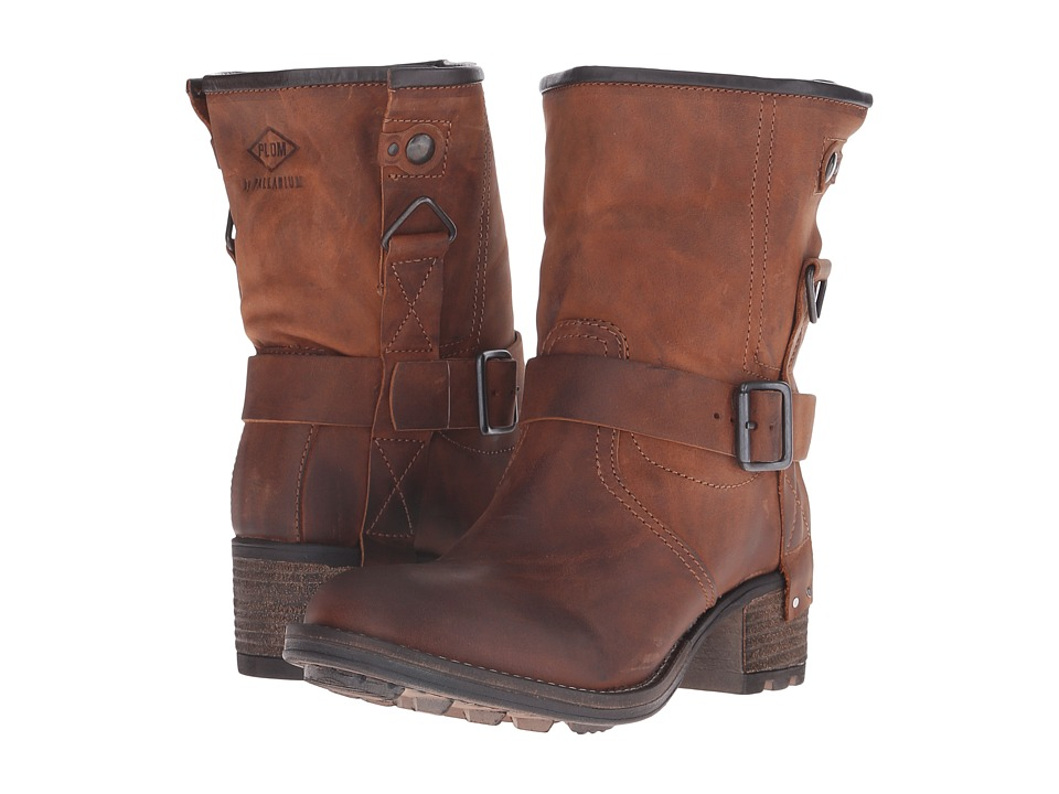 PLDM Clint Cognac Womens Pull on Boots