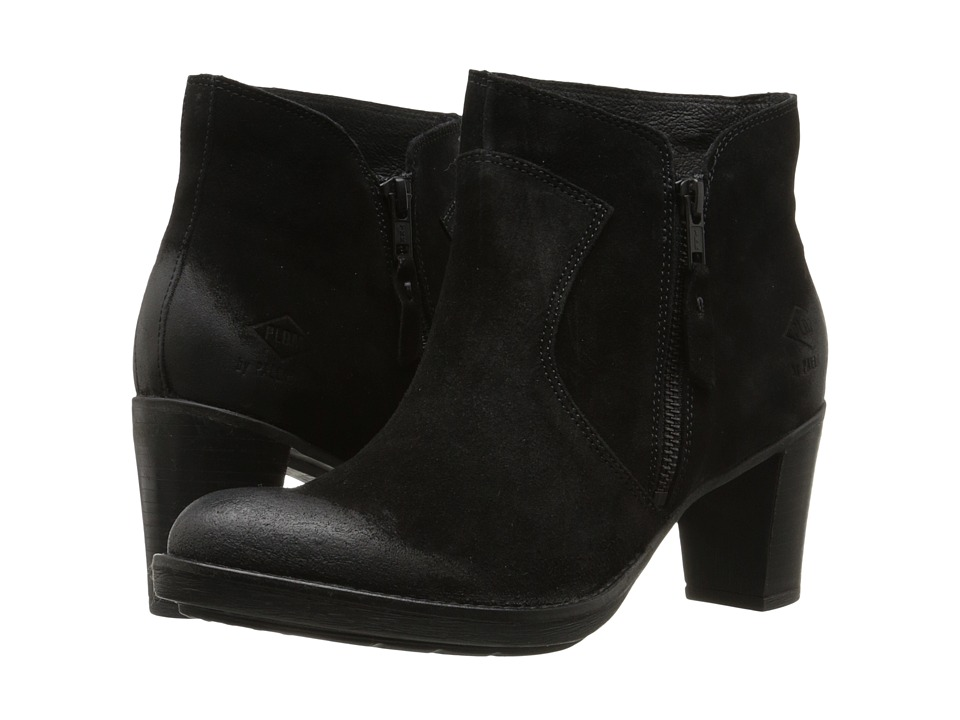 PLDM Spring Black Suede Womens Pull on Boots