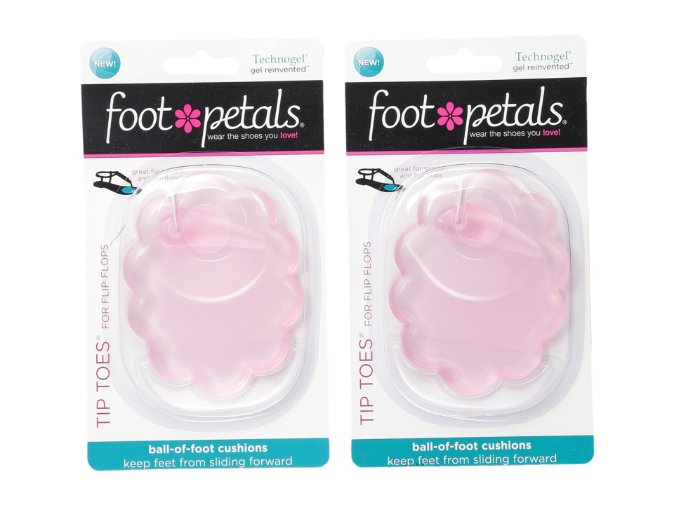Foot Petals Technogel Tip Toes For Flip Flops 2 Pair Pack Pink Gel Womens Insoles Accessories Shoes
