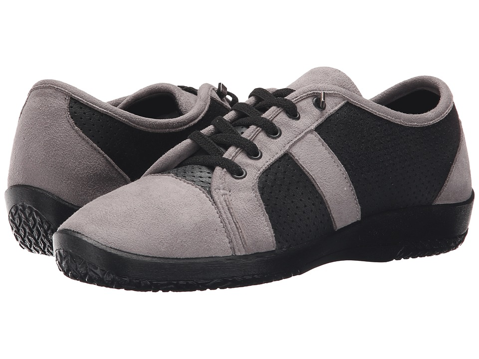 Arcopedico Leta (Black/Grey) Women's Lace up casual Shoes
