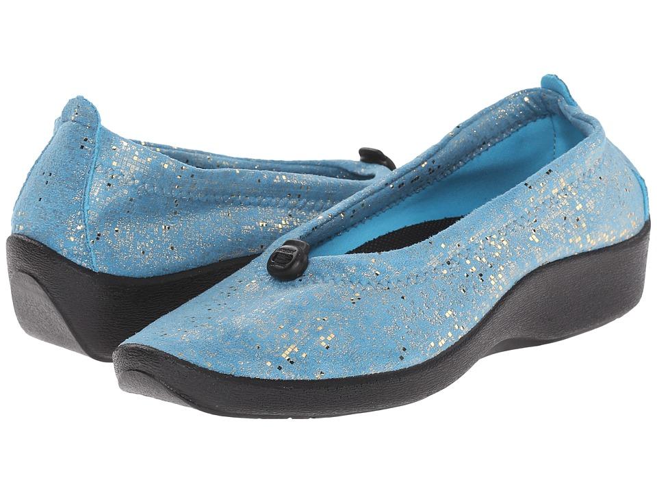 Arcopedico L14 (Turqoise Sparkle) Women's Flat Shoes