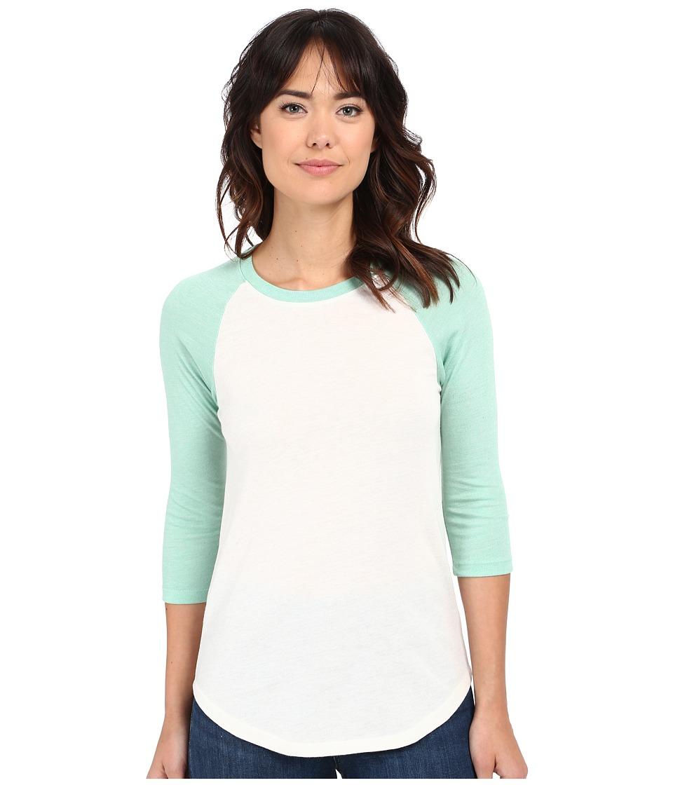 Alternative Eco Jersey Baseball T Shirt Eco Ivory/Eco True Green Tint Womens T Shirt