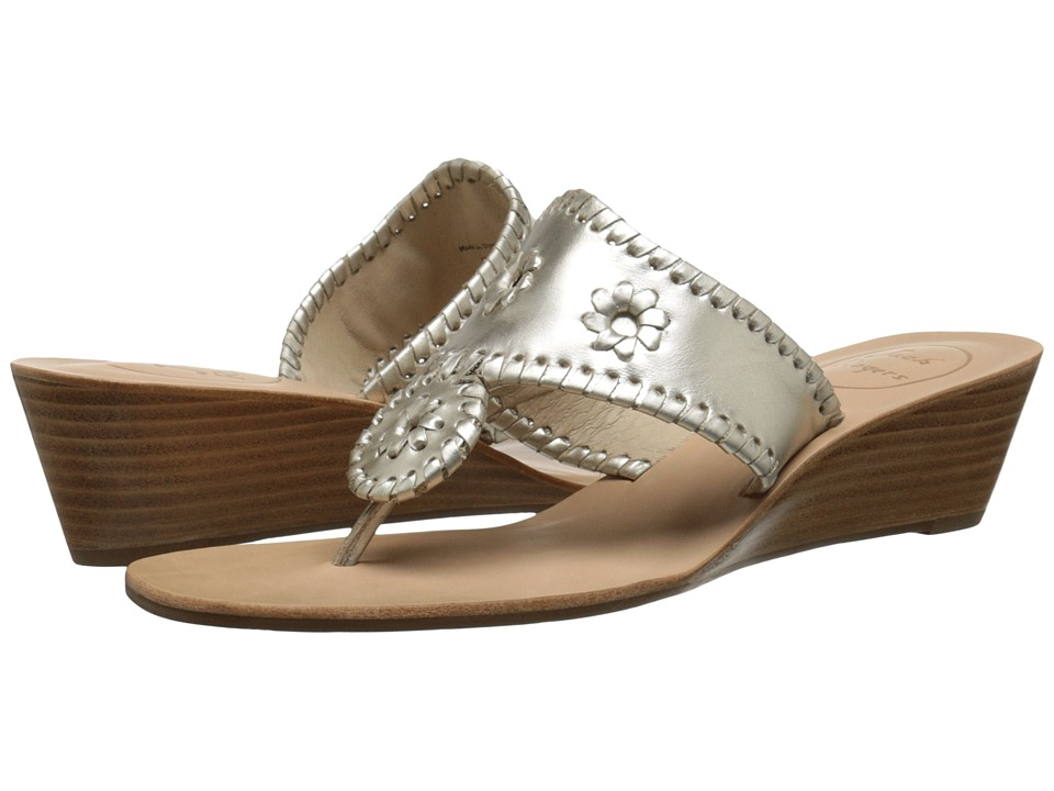 Jack Rogers Jacks Mid Wedge (Platinum) Women