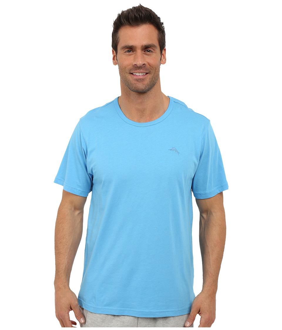 Tommy Bahama - Basic Short Sleeve T-Shirt (Baby Blue) Men
