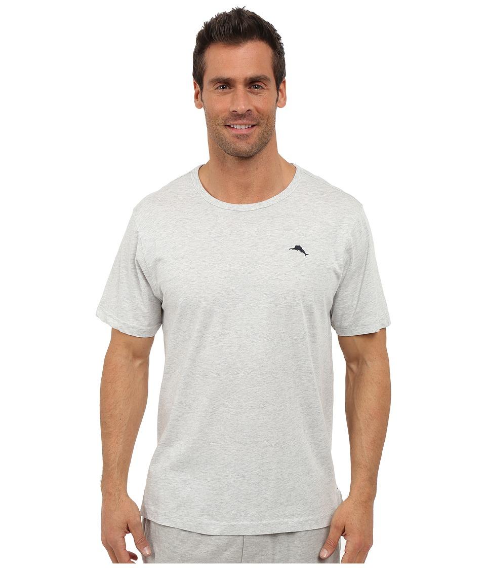 Tommy Bahama Basic Short Sleeve T Shirt Heather Gray Mens Short Sleeve Pullover