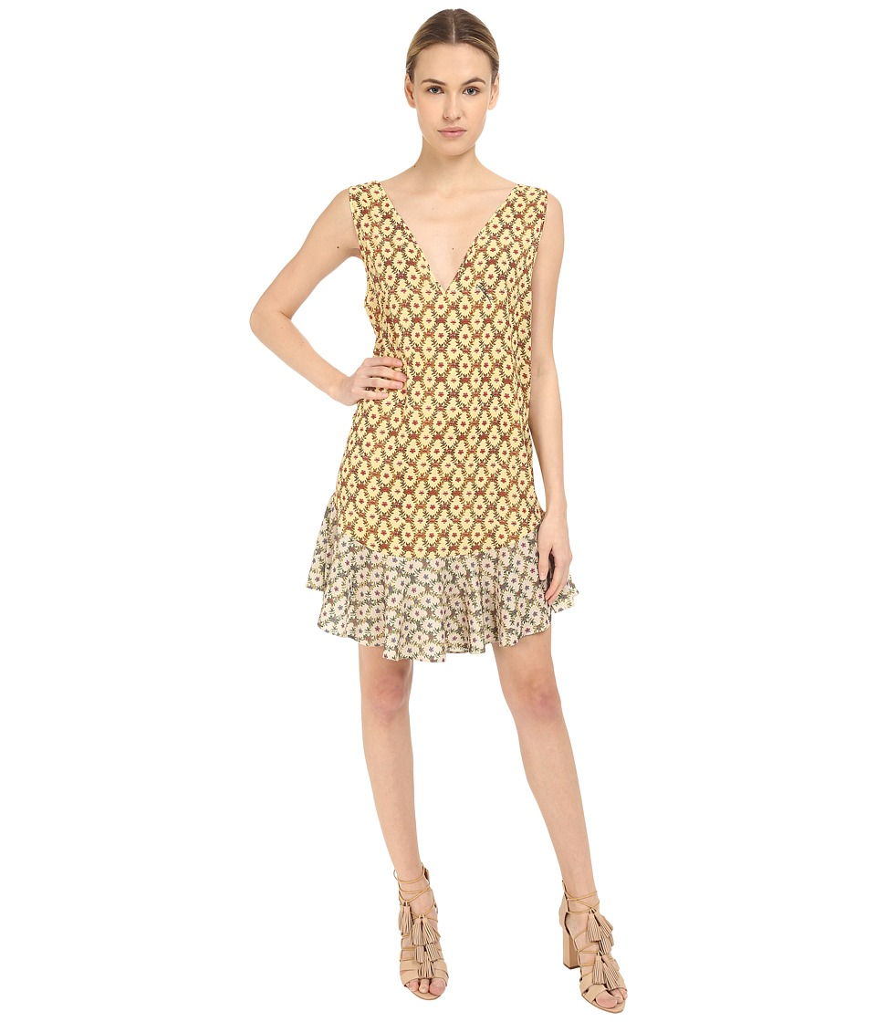 Just Cavalli Printed V Neck Sleeveless Dress Light Variant Womens Dress