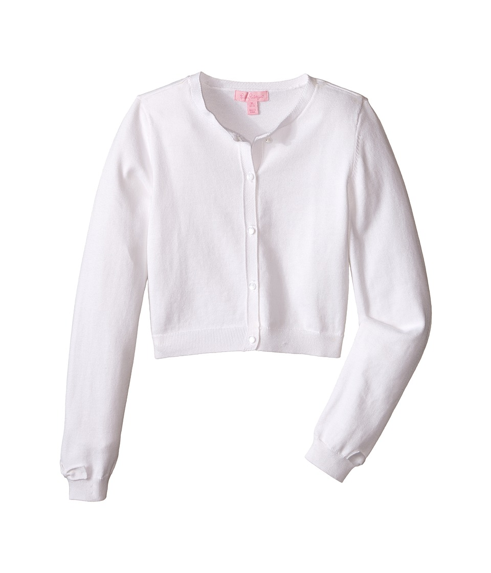 Lilly Pulitzer Kids Colleen Cardigan Toddler/Little Kids/Big Kids Resort White Girls Sweater