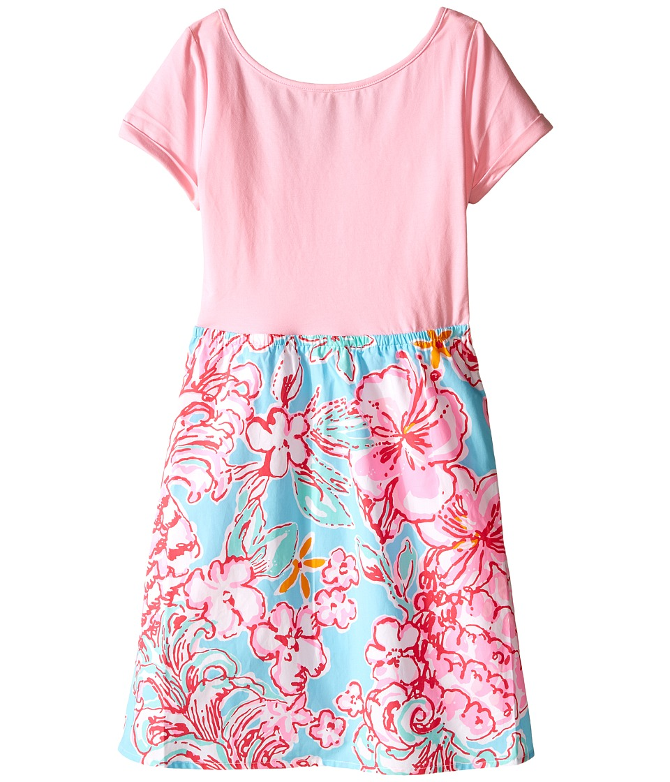 Lilly Pulitzer Kids Lacey Dress Toddler/Little Kids/Big Kids Breakwater Blue Lolita With Sunglow Girls Dress