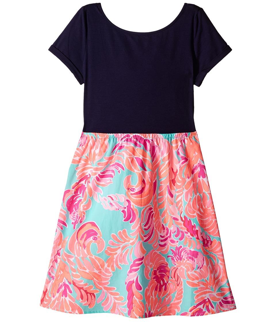Lilly Pulitzer Kids Lacey Dress Toddler/Little Kids/Big Kids Poolside Blue Love Birds Girls Dress