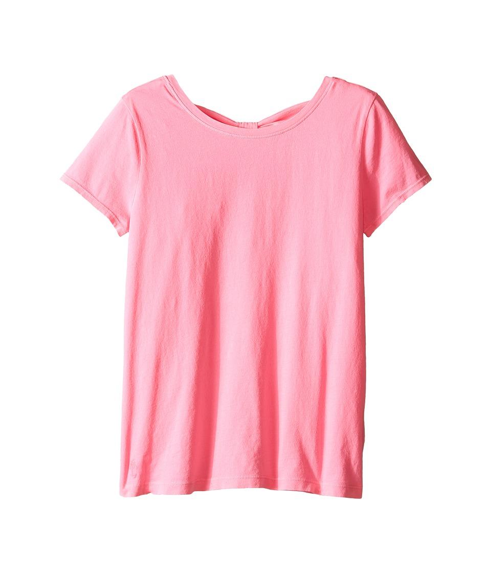 Lilly Pulitzer Kids Mochi Top Toddler/Little Kids/Big Kids Pink Pout Girls Short Sleeve Pullover