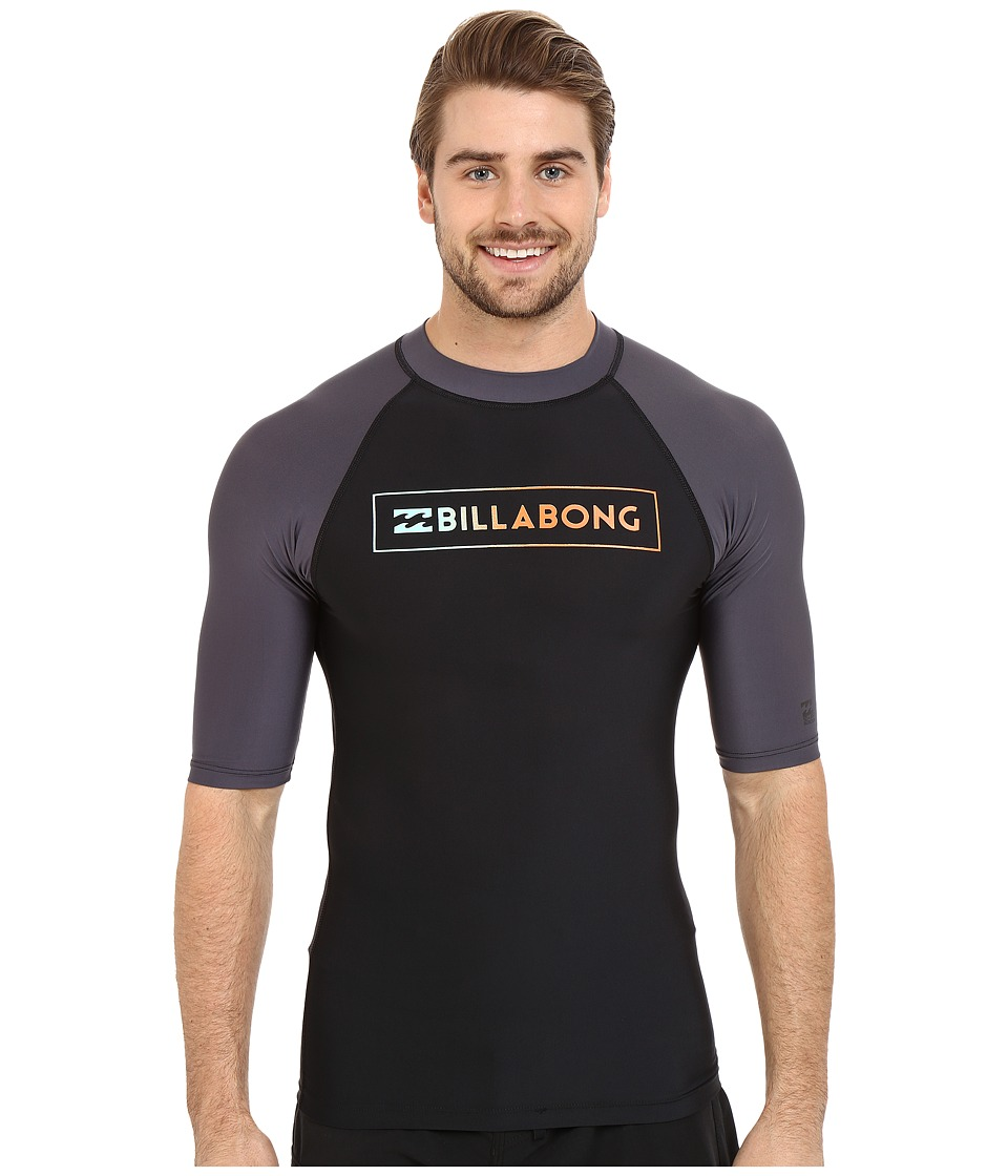 Billabong All Day Raglan Short Sleeve Rashguard Black Mens Swimwear