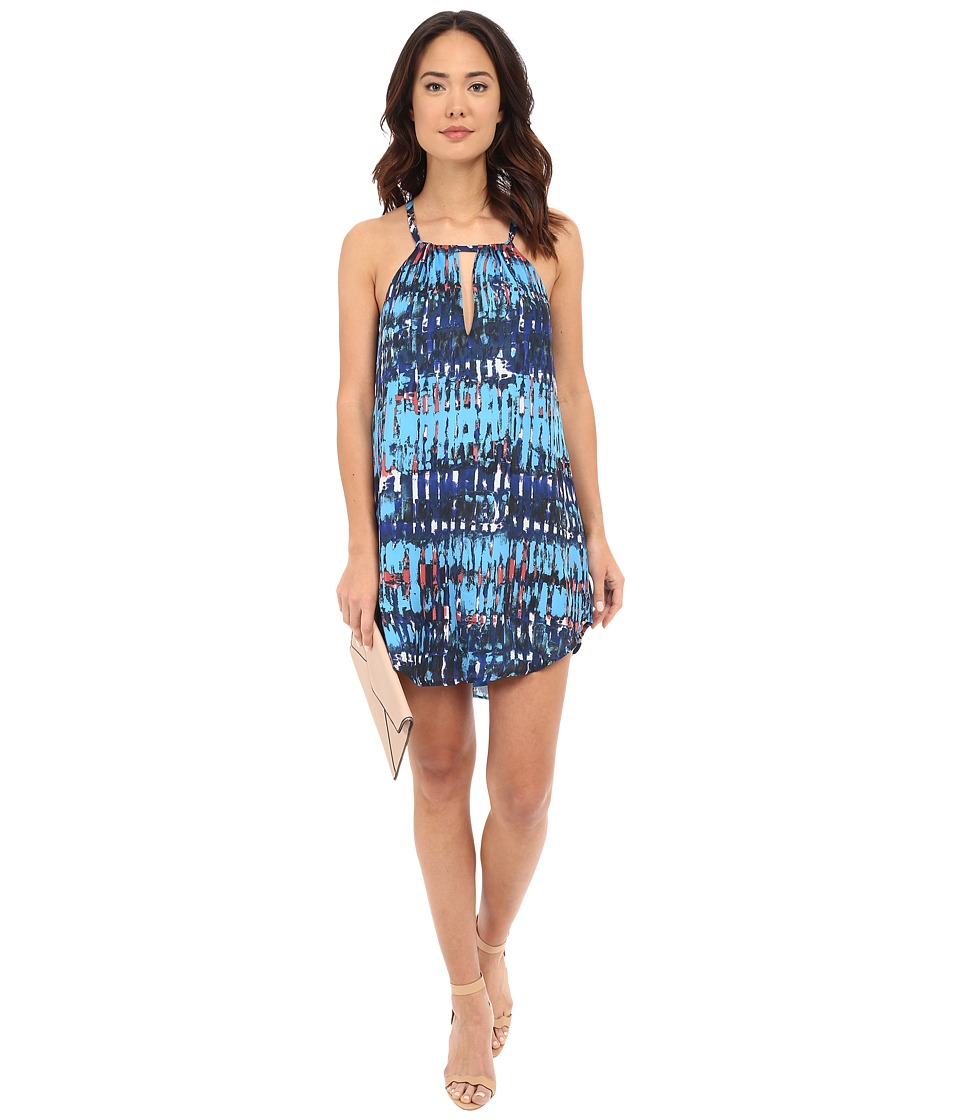 BB Dakota Celeste Refractions Printed Reverse Crepon Dress Multi Womens Dress