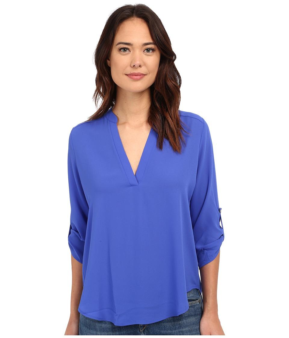 Brigitte Bailey Channing V Neck Blouse Dazzling Blue Womens Blouse