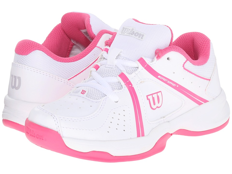 Wilson Kids Nvision Envy Junior Little Kid/Big Kid White/Fandango Pink Kids Shoes