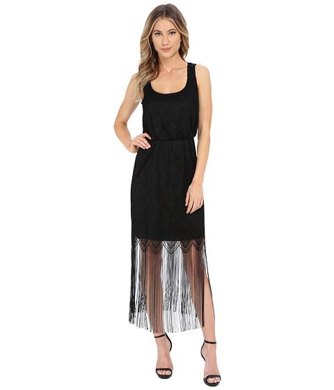 Jessica Simpson Metallic Lace Fringe Dress