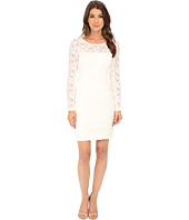 Jessica Simpson - Scuba Dress with Lace Long Sleeves