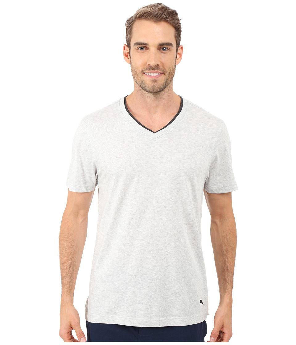 Tommy Bahama - V-Neck Short Sleeve T-Shirt (Heather Grey) Men