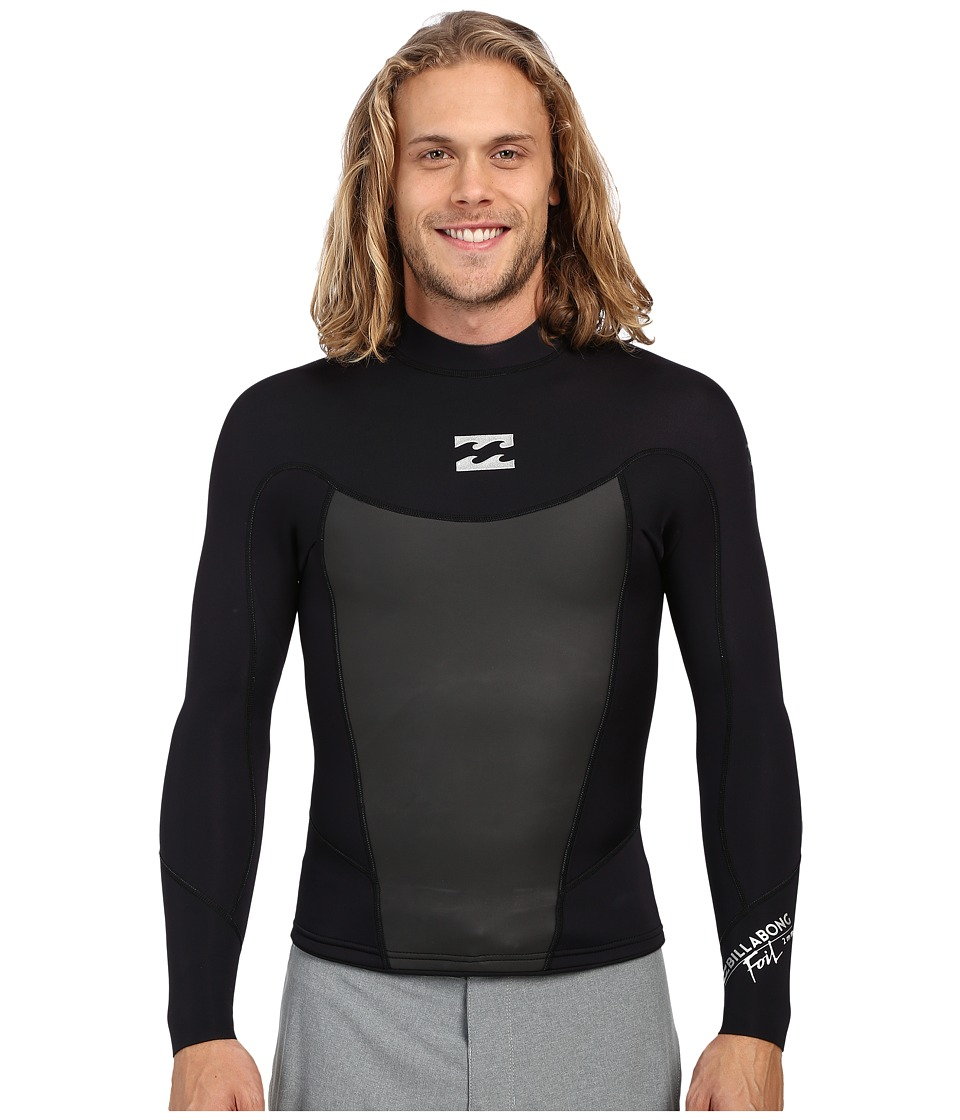Billabong 202 Foil Long Sleeve Surf Jacket Black Mens Swimwear