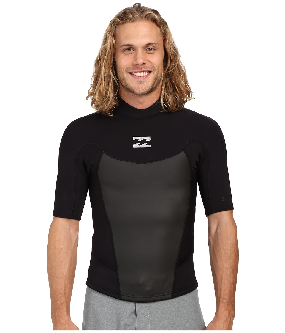Billabong 202 Foil Short Sleeve Surf Jacket Black Mens Swimwear
