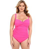 La Blanca - Plus Size Island Goddess Sweetheart Mio One-Piece