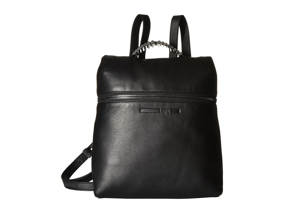 McQ - Smooth Leather Backpack (Black) Backpack Bags