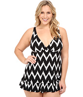 La Blanca - Plus Size Night Waves Mio One-Piece