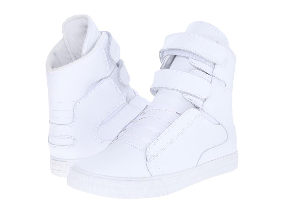 Supra - Society II (White/White/Red) Mens Skate Shoes