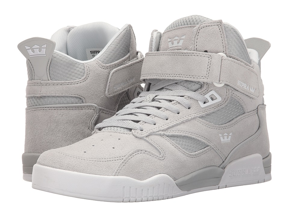 Supra Bleeker Light Grey/White Mens Skate Shoes