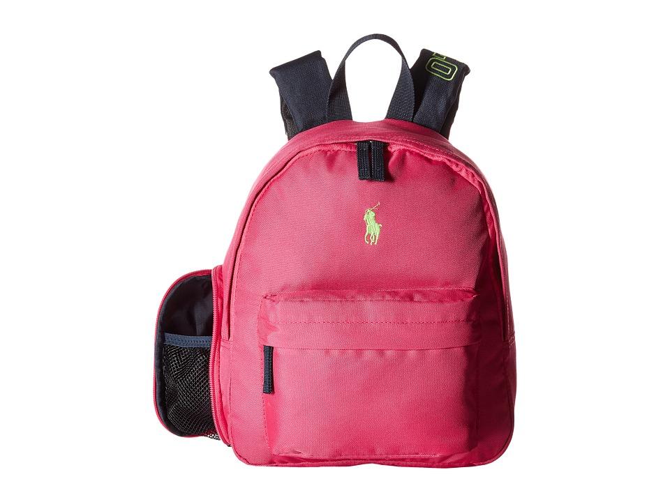Polo Ralph Lauren Kids East Hampton Backpack Fuchsia/Navy/Lime Pop 1 Backpack Bags
