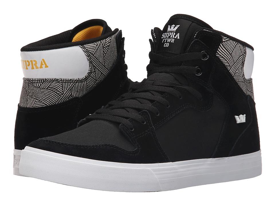 Supra - Vaider (Black/Print/White) Skate Shoes