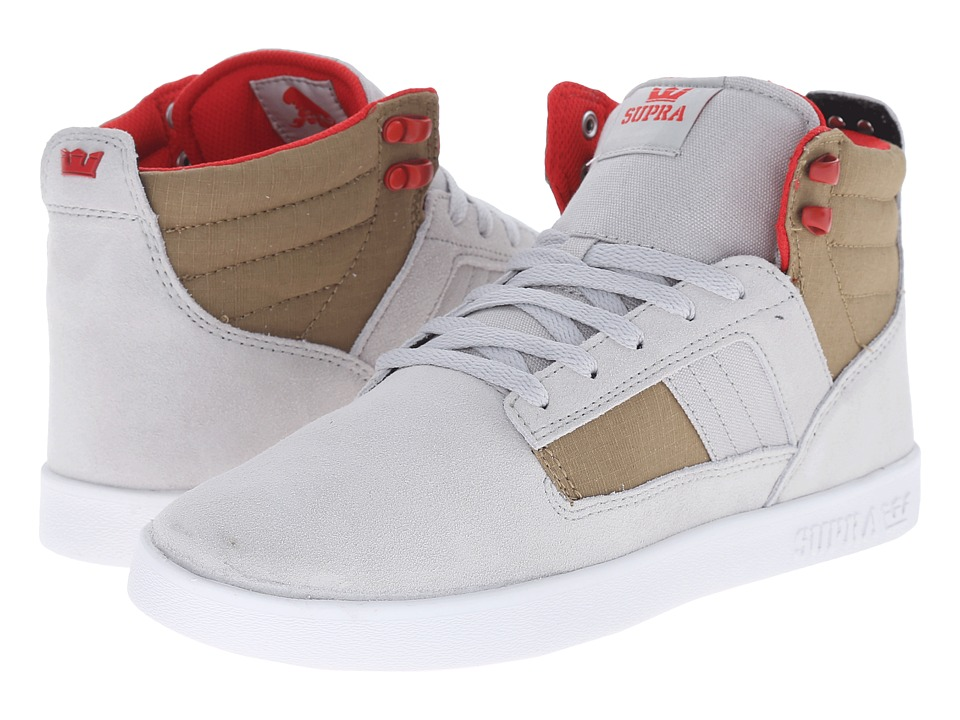 Supra Bandit Light Grey/Khaki/White Mens Skate Shoes