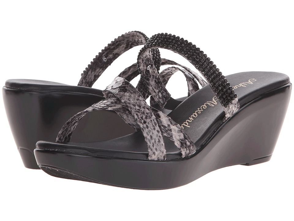 Athena Alexander Merideth Black Python Womens Sandals