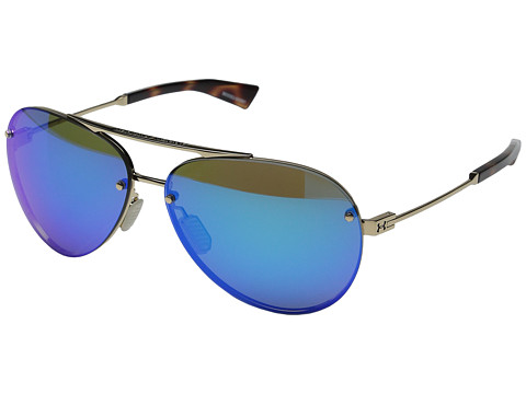 Under Armour Double Down - Shiny Gold/Shiny Tortoise Frame/Gray/Blue Multiflection Lens