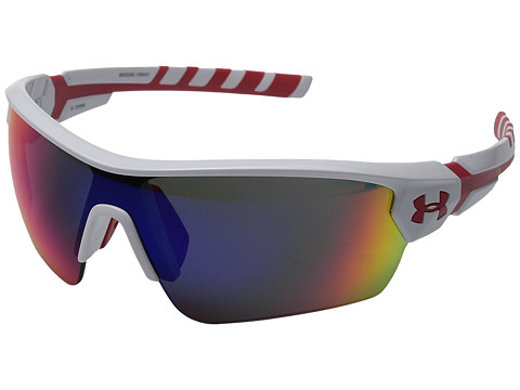 Under Armour UA Rival - Shiny White/Red Frame/Gray/Infrared Multiflection Lens