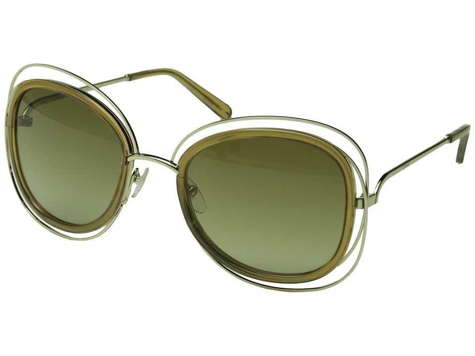 Chloe - Carlina (Gold / Transparent Light Brown) Fashion Sunglasses