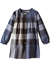 Burberry Kids - Long Sleeve Dress with Pleats (Infant/Toddler)