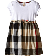 Burberry Kids - Rib Jersey & Woven Mix Dress (Infant/Toddler)