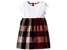 Burberry Kids Rib Jersey Woven Mix Dress (Infant/Toddler)