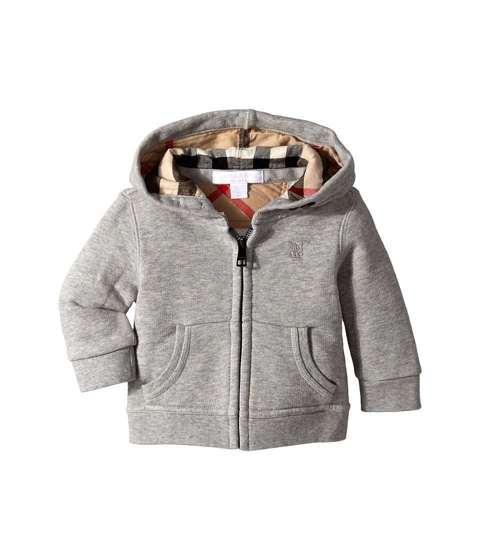 Burberry Kids - New Core Sweater (Infant/Toddler) (Pale Grey Melange) Boy