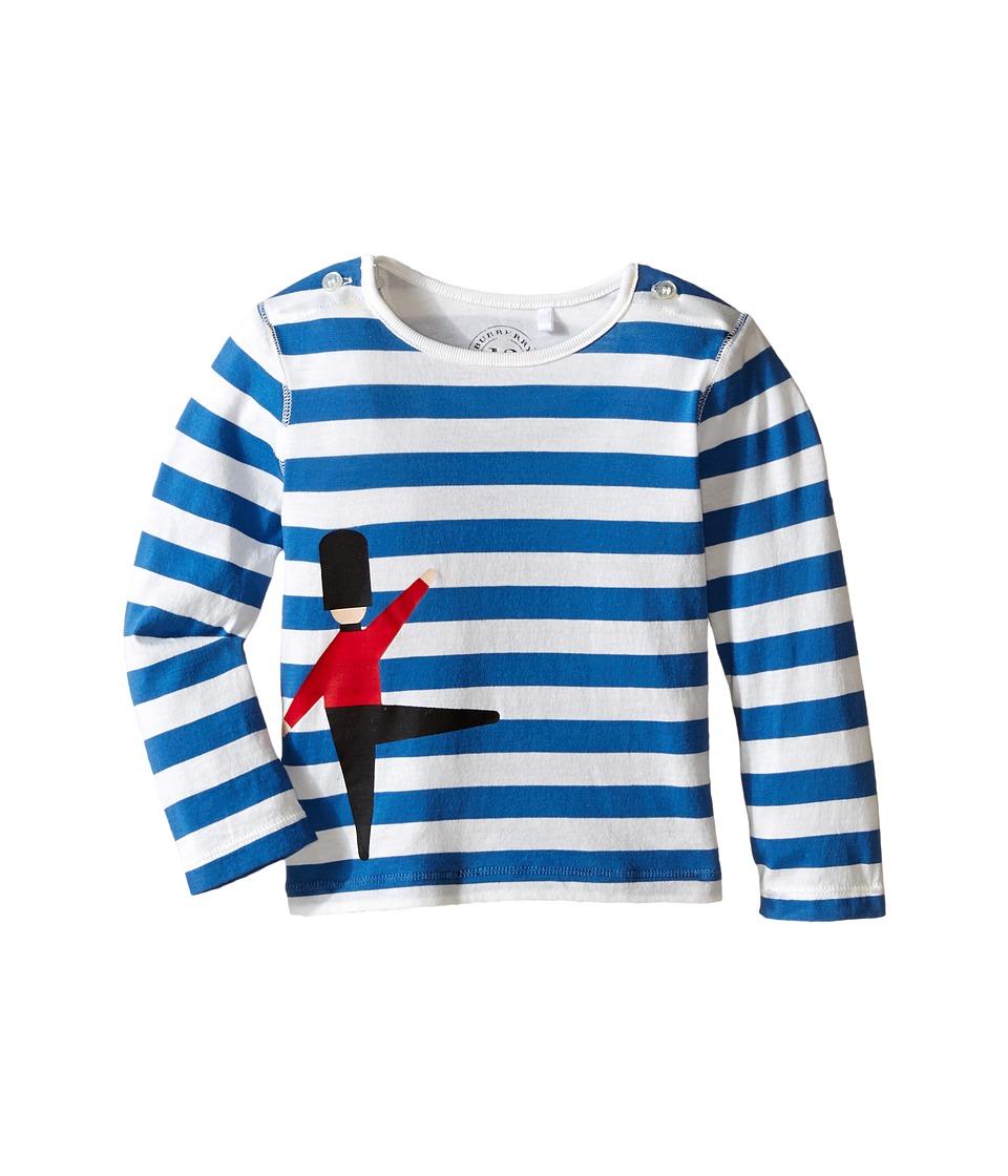 Burberry Kids Acoustic Stripe Top Infant/Toddler Blue Azure/White Boys Long Sleeve Pullover