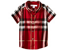 Burberry Kids Check Shirt with Front Pocket (Infant/Toddler)