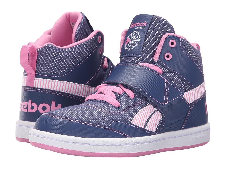 Reebok Kids - Reebok Mission (Little Kid/Big Kid) (Midnight Blue/Icono Pink/White) Girl