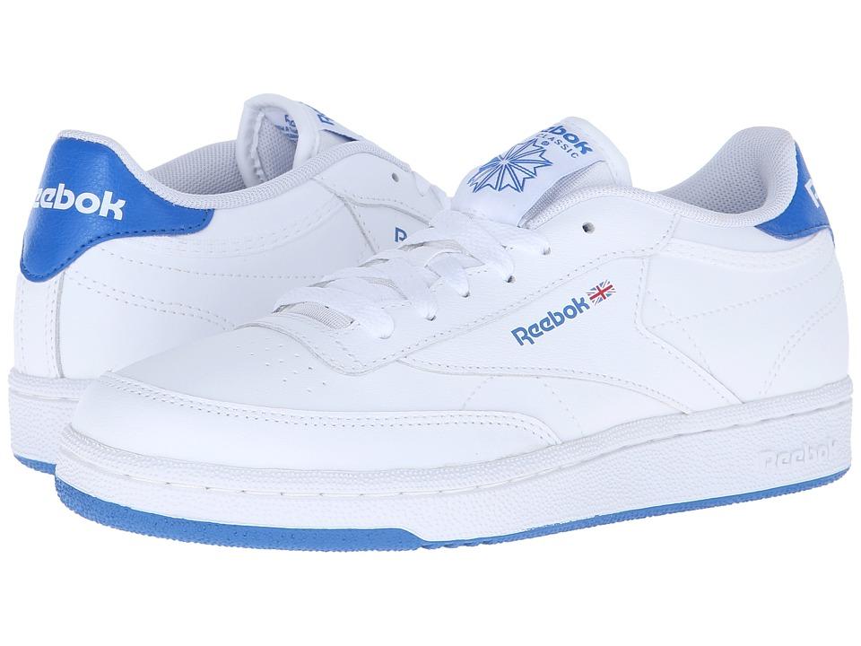 Reebok Kids Club C Big Kid White/Blue Sport Kids Shoes