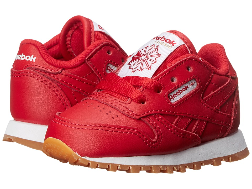 Reebok Kids Classic Leather Gum Infant/Toddler Scarlett/Gum Kids Shoes