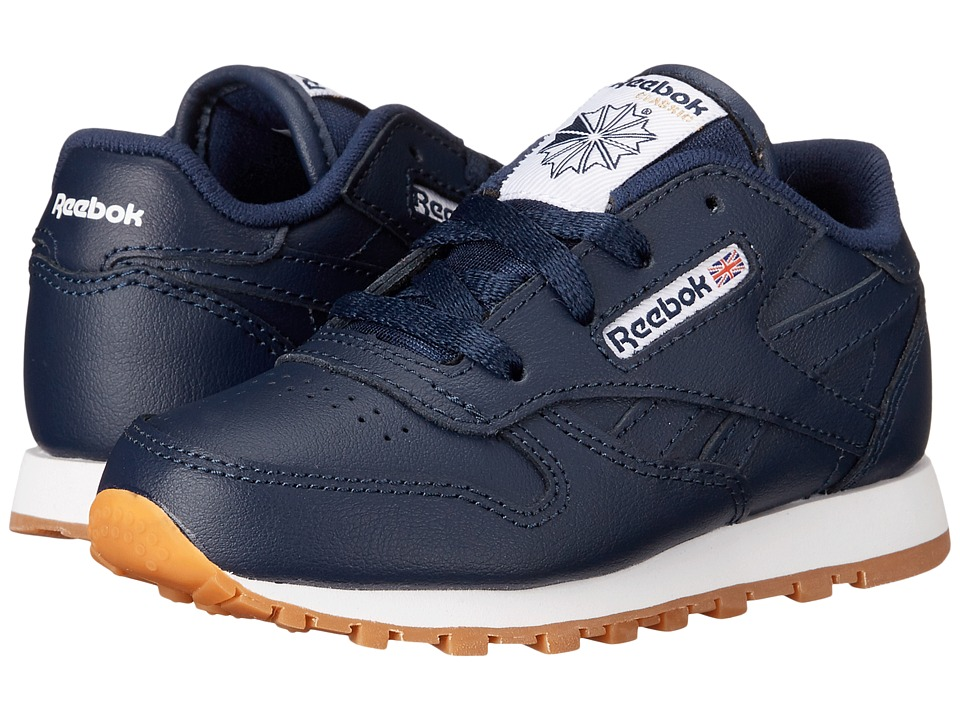 Reebok Kids Classic Leather Gum Infant/Toddler Collegiate Navy/Gum Kids Shoes